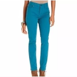 ✨FIRM NYDJ Sheri Skinny Neptune Blue Jeans Pant